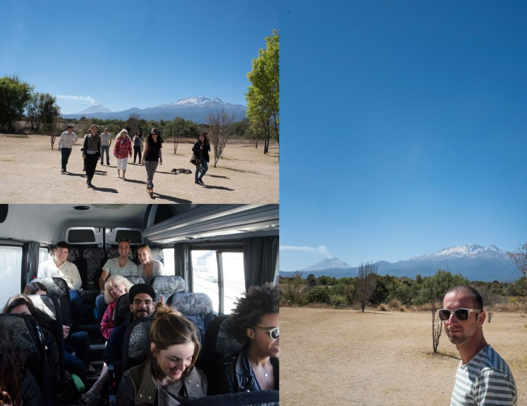 Collage-Drive to Oaxaca City